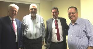 A partir da esq., Nivaldo Cleto, Luiz Paranhos Velloso, Bruno Linhares e José Luciano da Silva.